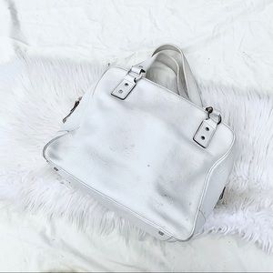 kate spade White Leather Carryall Hand Bag!